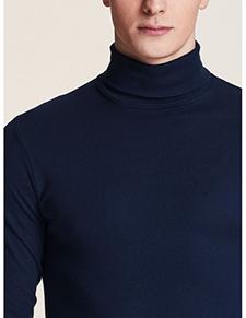maglia uomo collo dolcevita cotone sostenibile roule